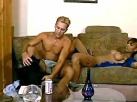 Hot blond guy and exotic tranny blow each other