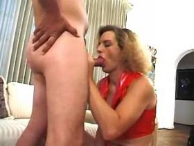 Blonde shemale in rad has fuck in diff positions